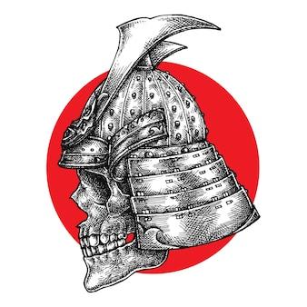 Crânio guerreiro samurai