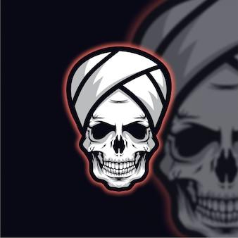Crânio guru logo esport