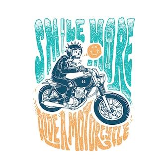 Crânio horror tipografia citação ilustração gráfica arte design de camiseta