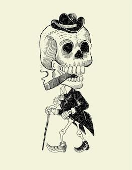 Crânio mexicano de catrin
