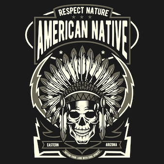 Crânio nativo americano
