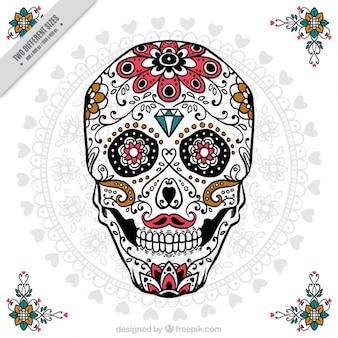 Crânio ornamental para o dia dos mortos