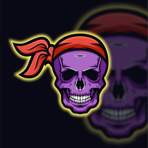 Crânio piratas logotipo esport