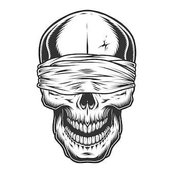Crânio vintage monocromático