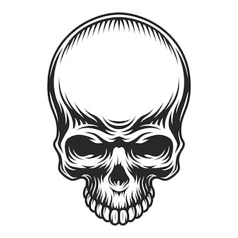 Crânio vintage retrô