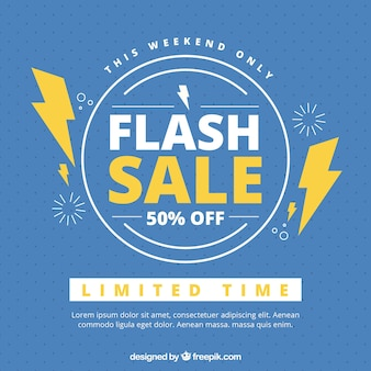 Creative blue flash sale background