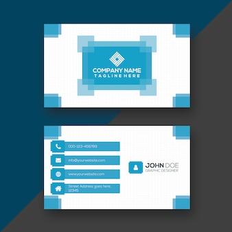 Creative blue & white print ready business card design