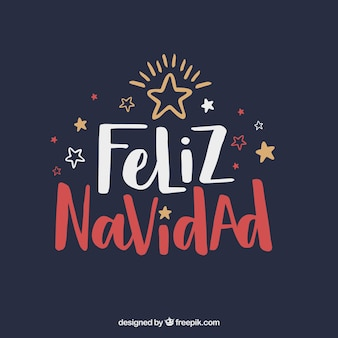 Creative feliz navidad lettering background