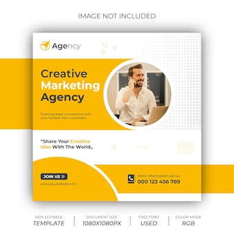 Creative marketing agency post banner design05sra