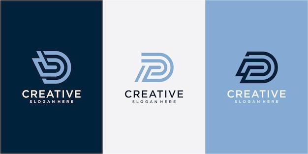 Creative professional trendy letter dp pd design de logotipo inspiração de design de logotipo de tipografia dp monograma