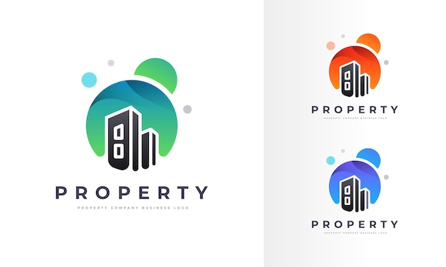 Creative property home house building logo empresa profissional business design