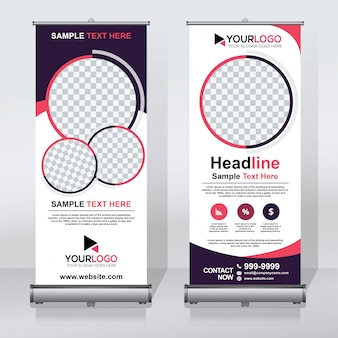 Creative roll up template de banner
