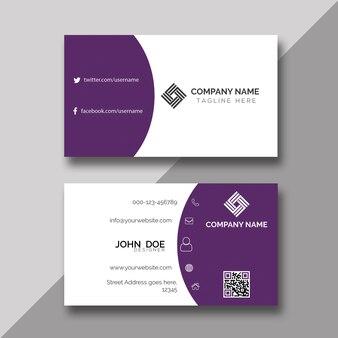 Creative violet business card design