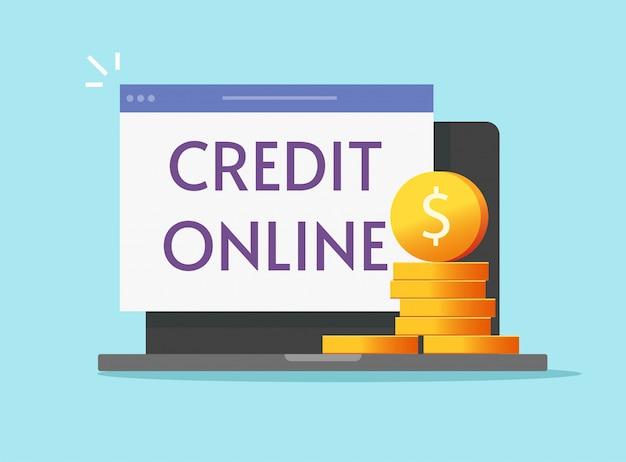 Crédito de empréstimo on-line