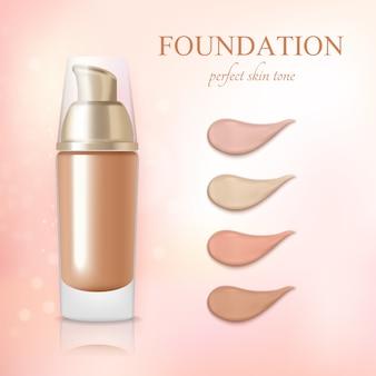 Creme de corretivo cosmético foundation realista