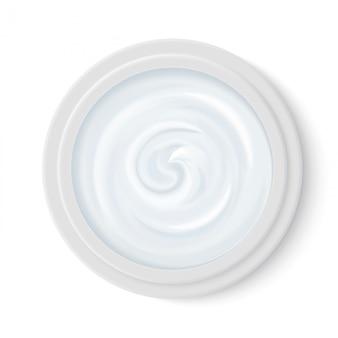 Creme de cosméticos realistas em embalagem