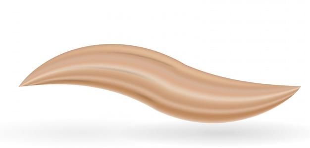 Creme de esfregaço naturalista para maquiagem sob a forma de onda