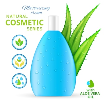 Creme hidratante cosméticos naturais design