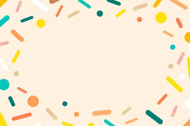 Creme polvilha o fundo do quadro, vetor de desenho de sorvete em pastel fofo