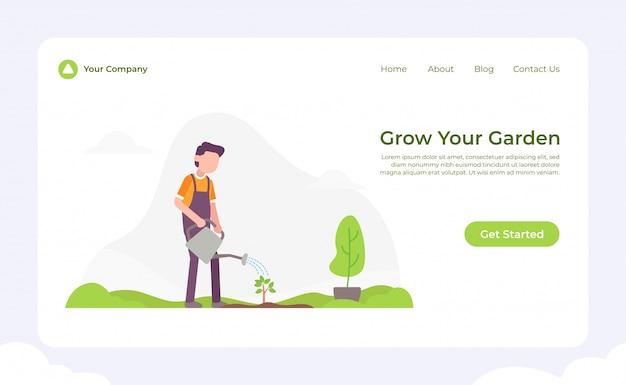 Cresça sua página de aterrissagem do jardim