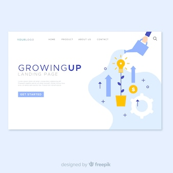 Crescendo o design da landing page