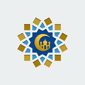 Crescente islâmico eid mubarak