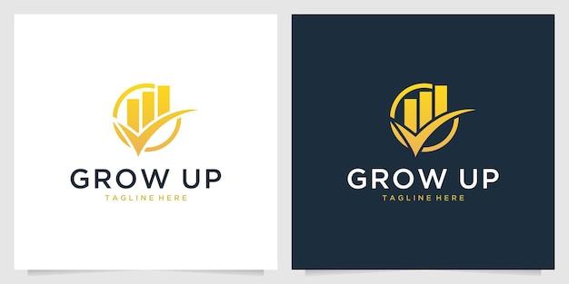 Crescer design de logotipo de investimento