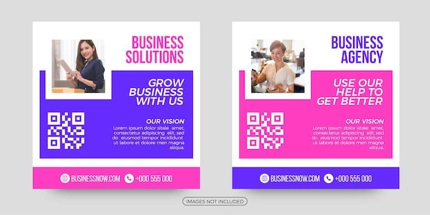Crescer negócios modelos de postagem de mídia social