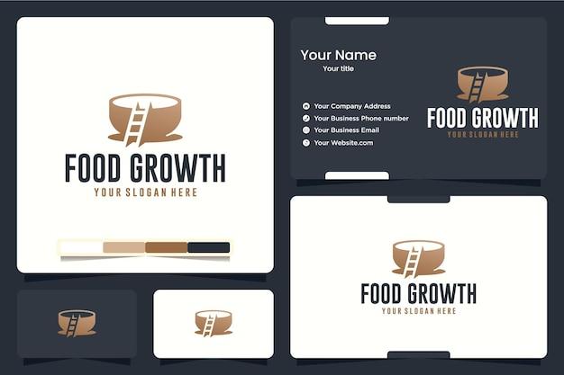 Crescimento alimentar, escada, inspiração para o design de logotipo