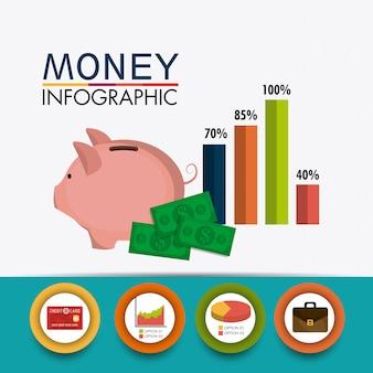 Crescimento de negócios e economia de dinheiro