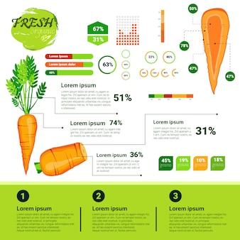 Crescimento de vagetables naturais de infographics orgânico fresco, agricultura e agricultura