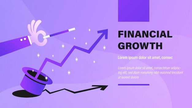 Crescimento financeiro.