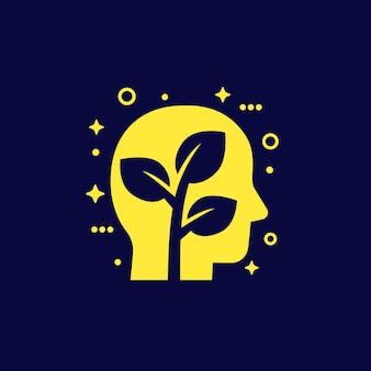 Crescimento pessoal, ícone de mentalidade, vetor