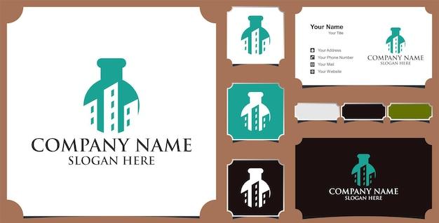 Criação de design de logotipo e cartão de visita do laboratório