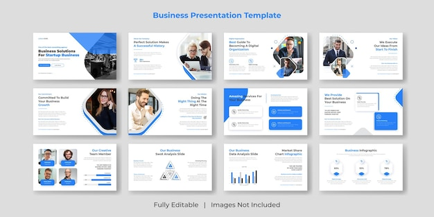 Criação de modelos de slides de apresentações em powerpoint para negócios criativos e modernos