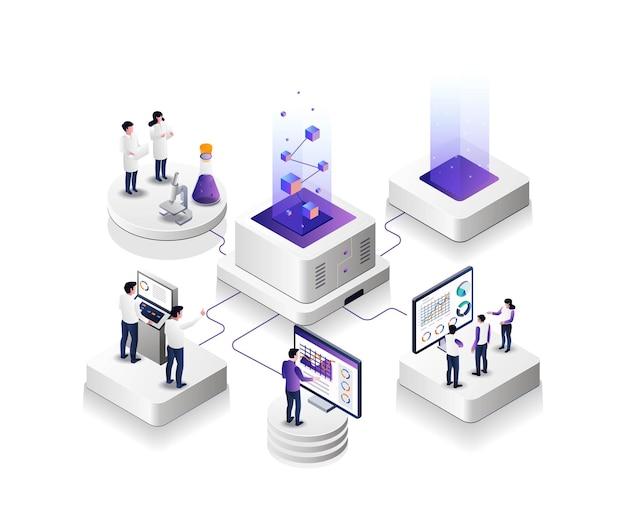 Criação de novos produtos com equipes de trabalho e cientistas