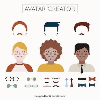 Criador avatar masculina