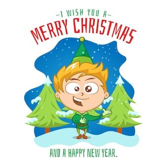 Criança cantando uma canção de natal
