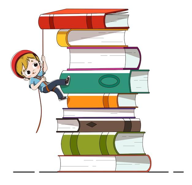 Criança, com, livros
