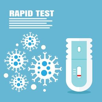 Criança de teste rápido de coronavírus e vírus