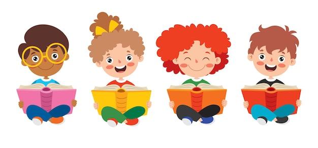 Criança feliz estudando e aprendendo