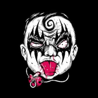 Criança humana música estilo rock ilustração gráfica arte design de camisetas
