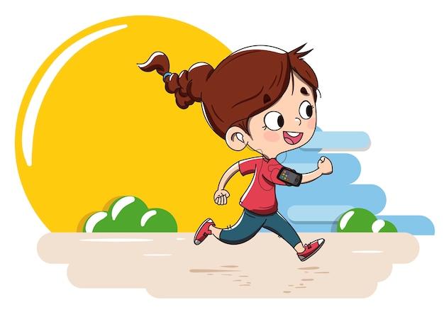 Criança praticando esportes