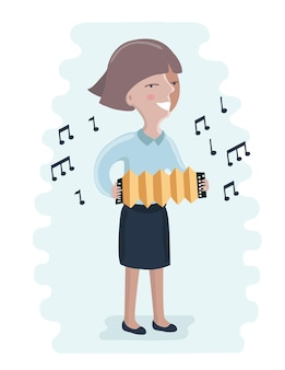 Criança tocando música