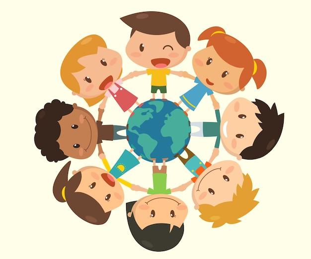 Crianças ao redor do mundo.