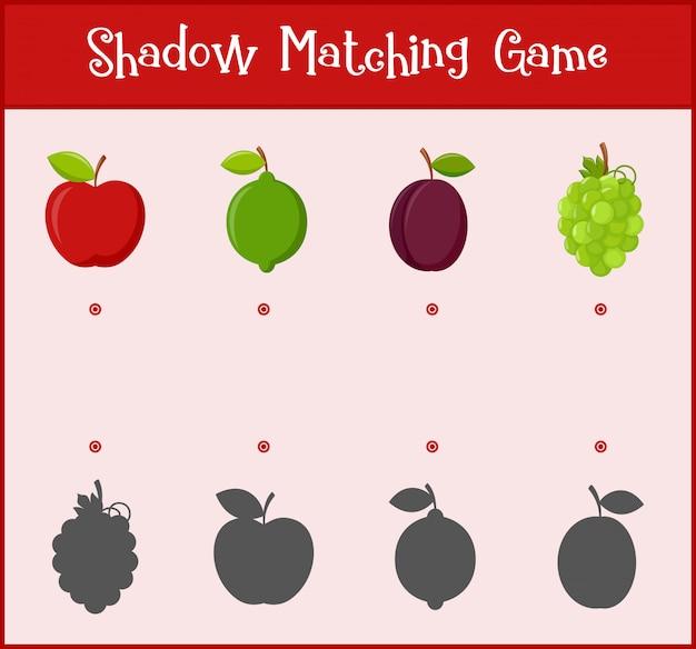 Crianças aprendendo jogo, jogo de correspondência de sombra
