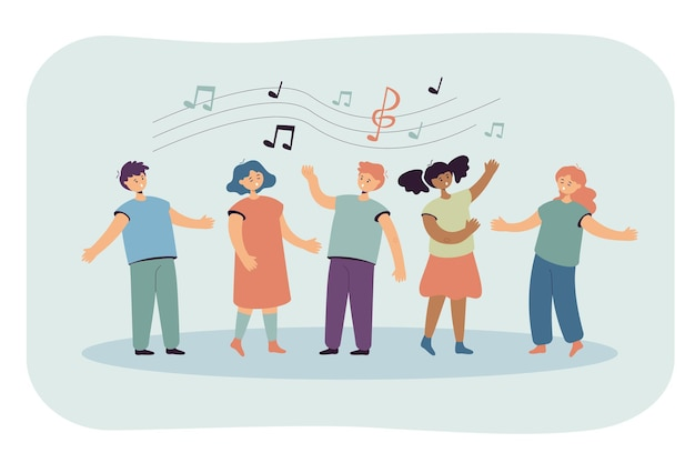 Crianças cantando canções