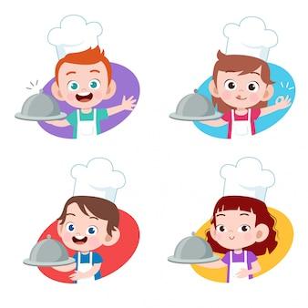 Crianças chef cozinhar