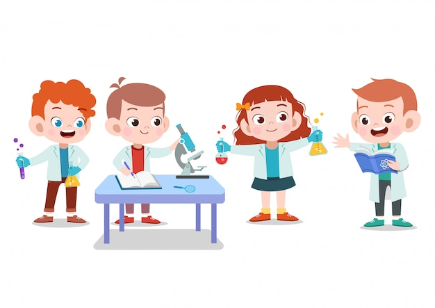 Crianças cientista pesquisa