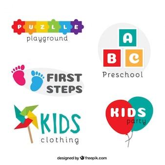 Crianças coleção logotipo
